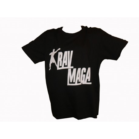 T-shirt noir streat wear krav maga
