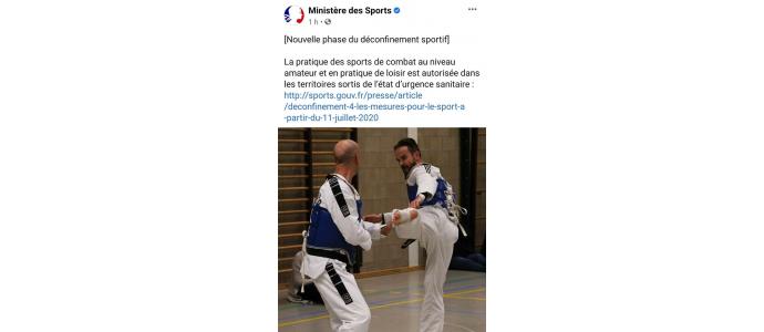 Reprise des sports de combat